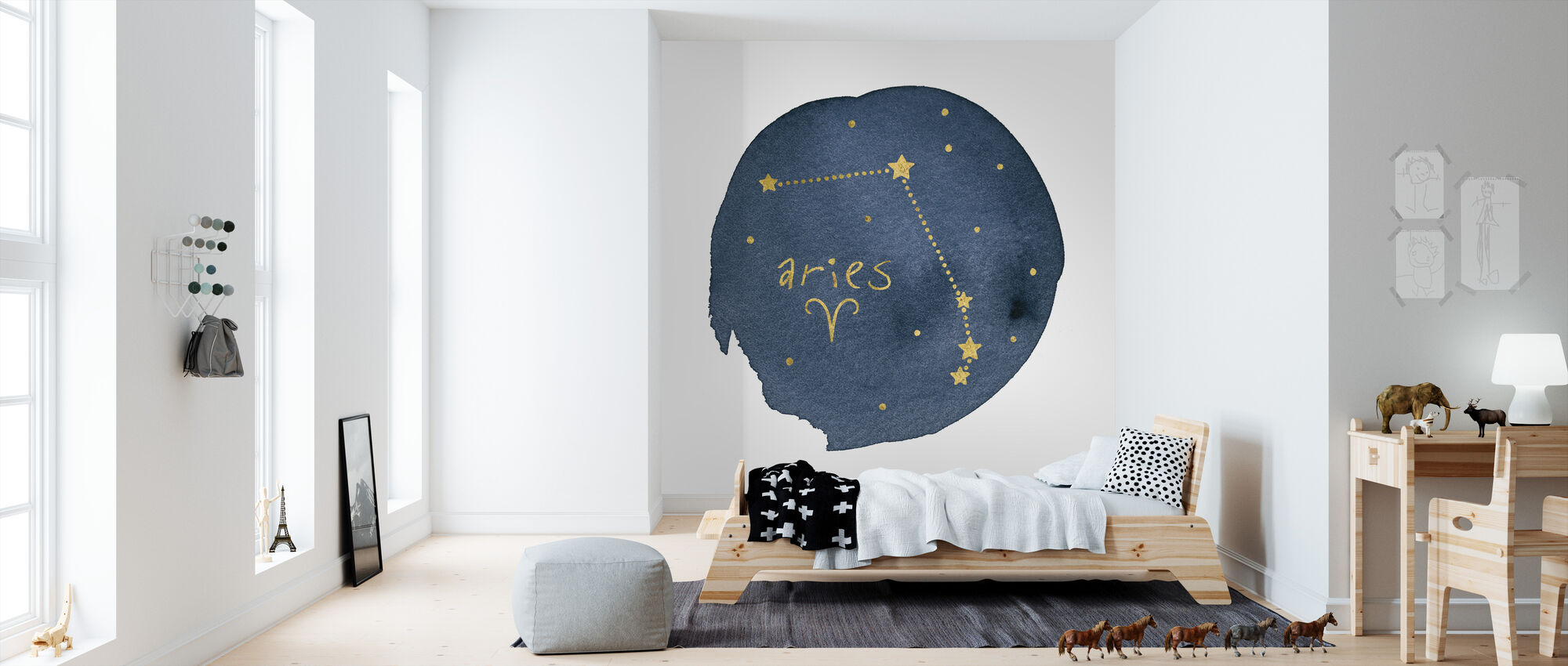 Horoscope Aries - Wallpaper - Kids Room