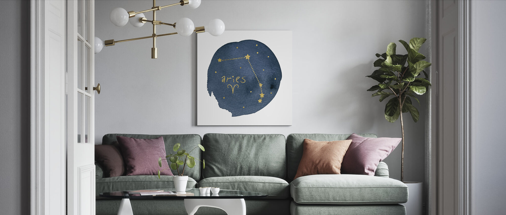 Horoscope Aries - Canvas print - Living Room