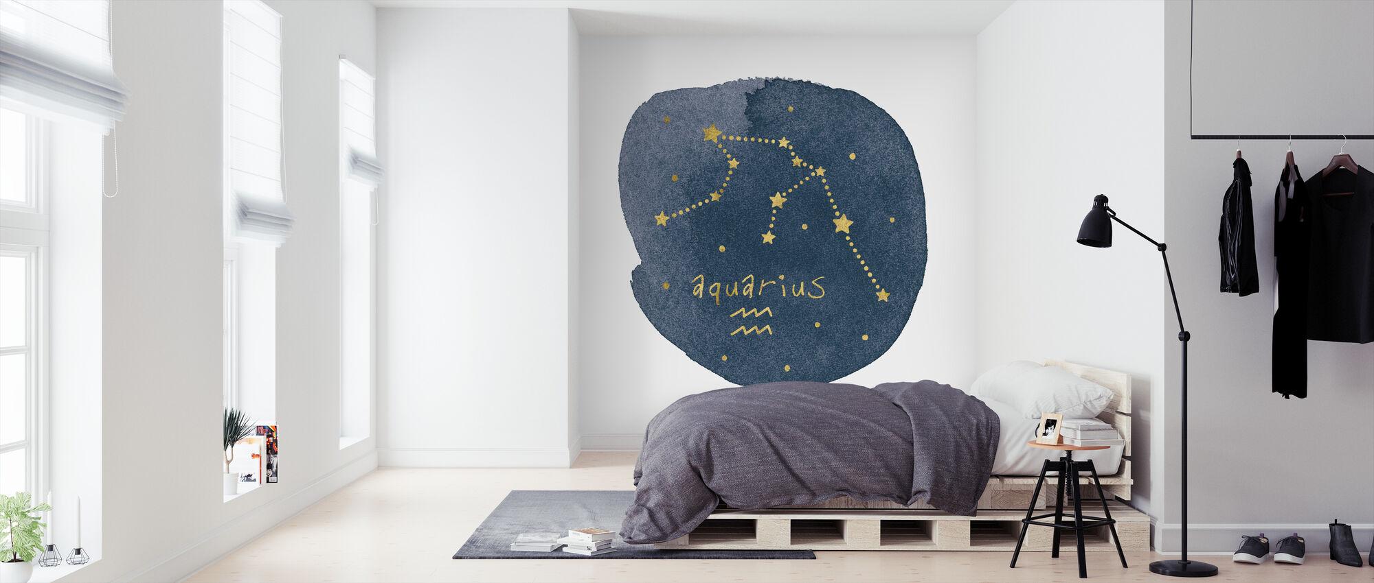 Horoscoop Waterman - Behang - Slaapkamer