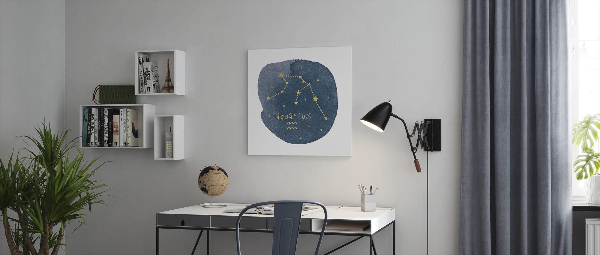 Horoscope Aquarius - Canvas print - Office