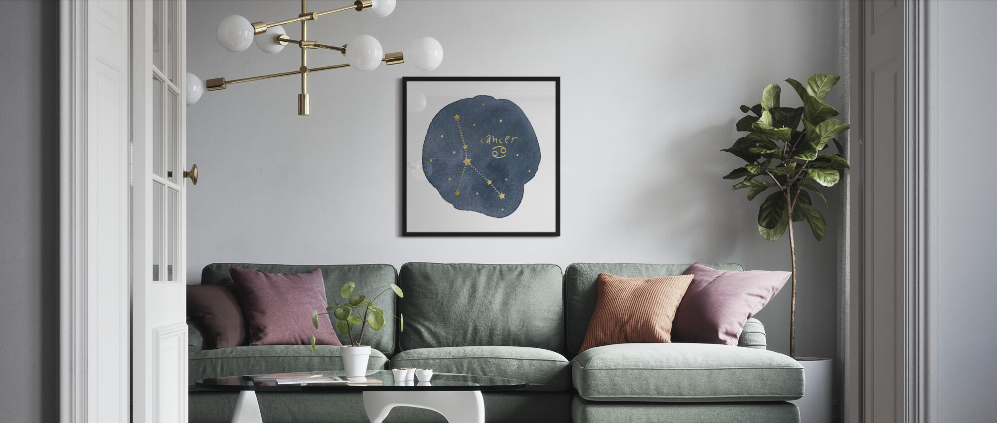 Horoscope Cancer - Framed print - Living Room