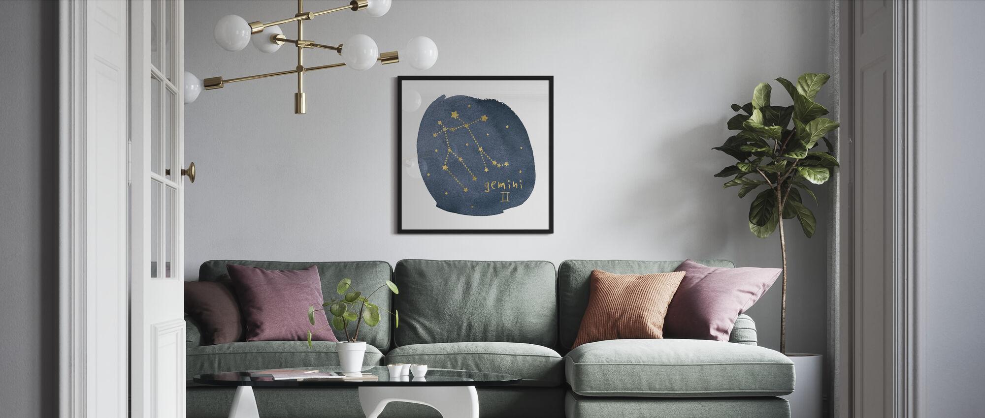 Horoskop Gemini - Innrammet bilde - Stue