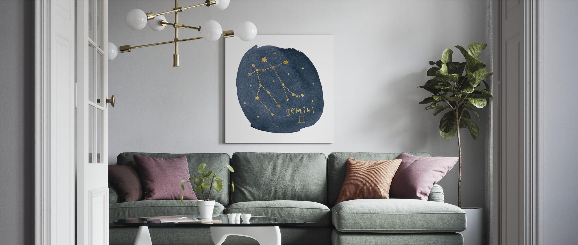 Horoscope Gemini - Canvas print - Living Room