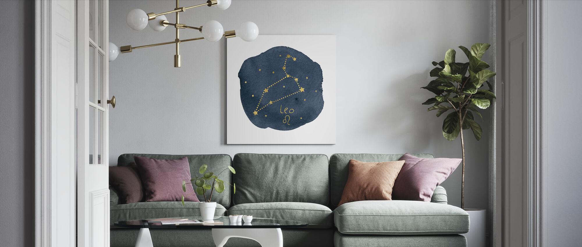 Horoscope Leo - Canvas print - Living Room