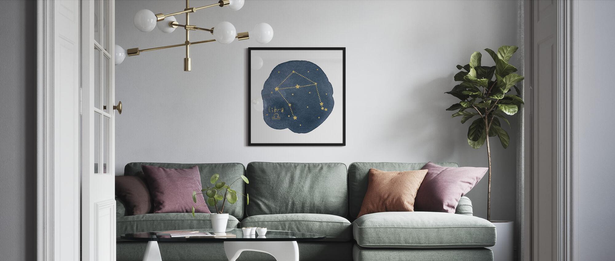 Horoscope Libra - Framed print - Living Room