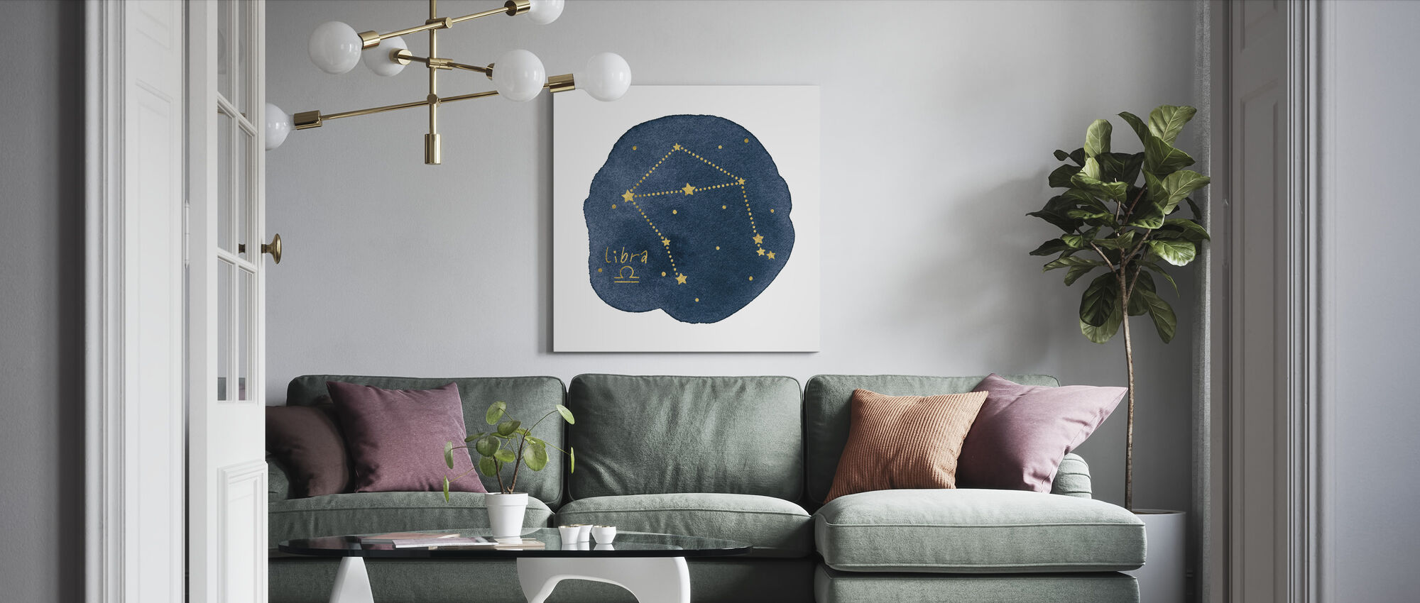 Horoskop Vågen - Canvastavla - Vardagsrum