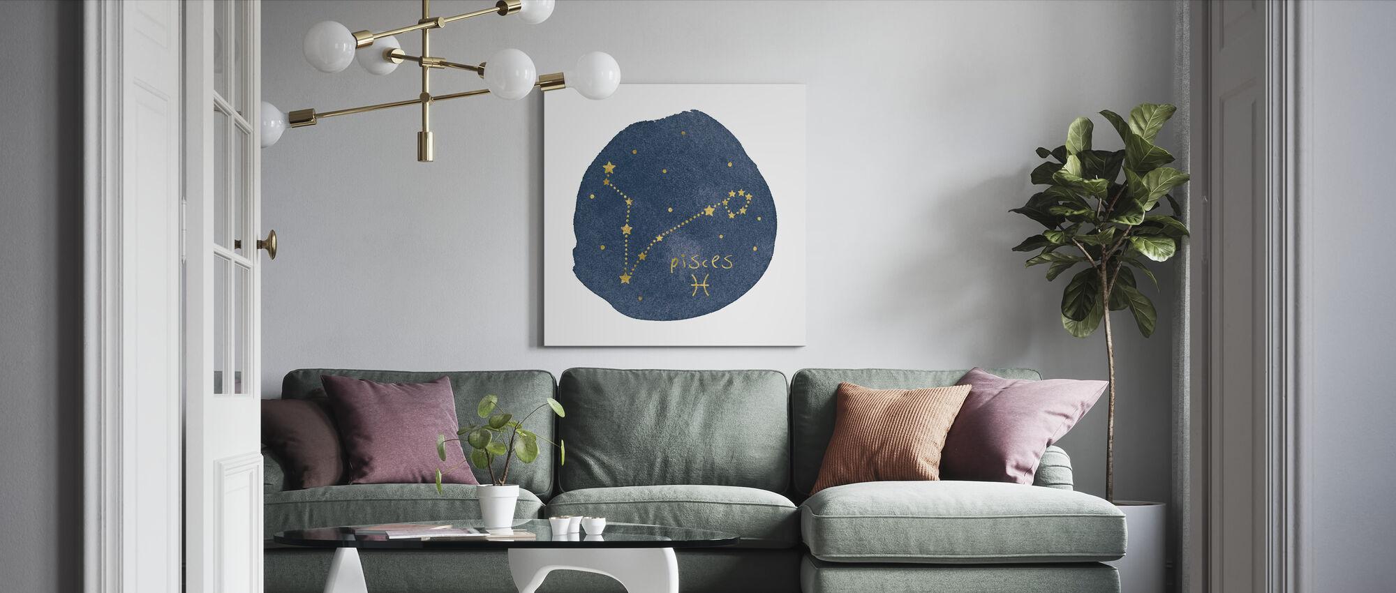 Horoscope Pisces - Canvas print - Living Room