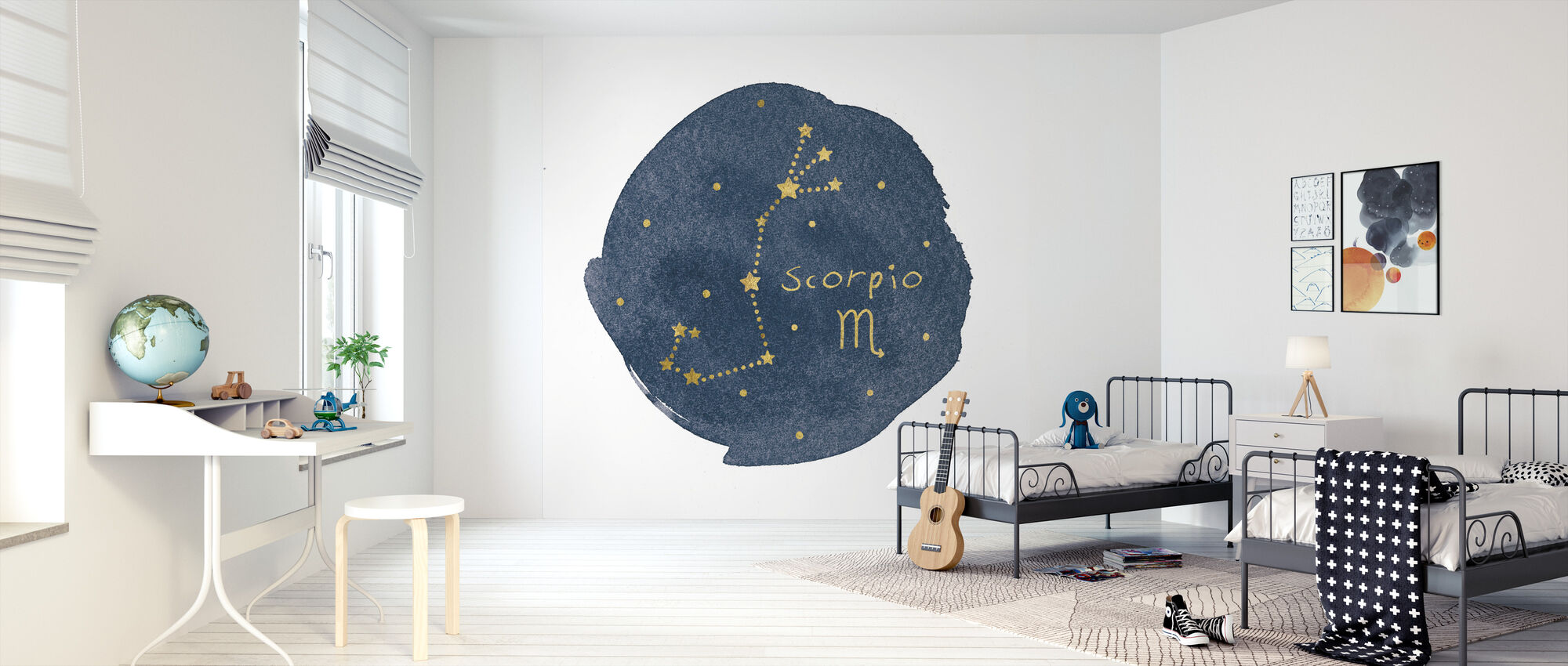 Horoscope Scorpio - Wallpaper - Kids Room