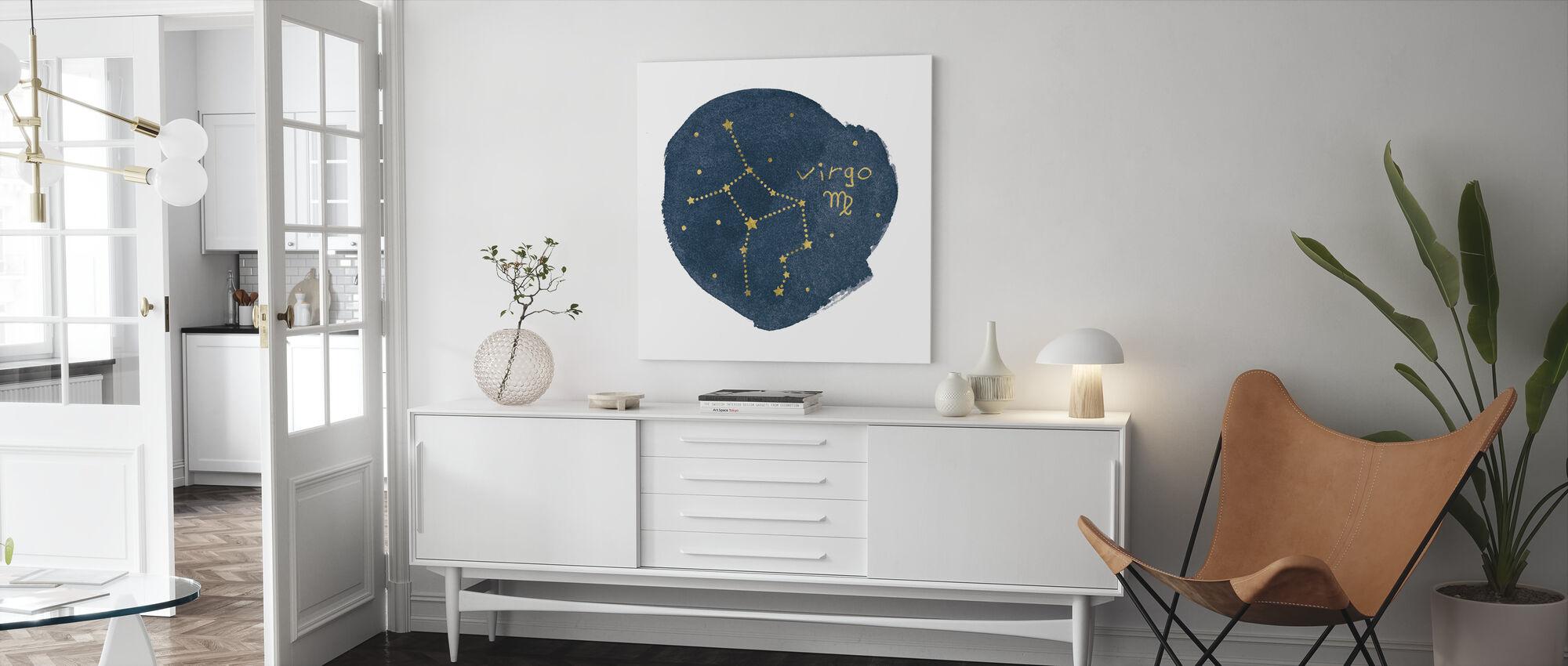 Horoscope Virgo - Canvas print - Living Room