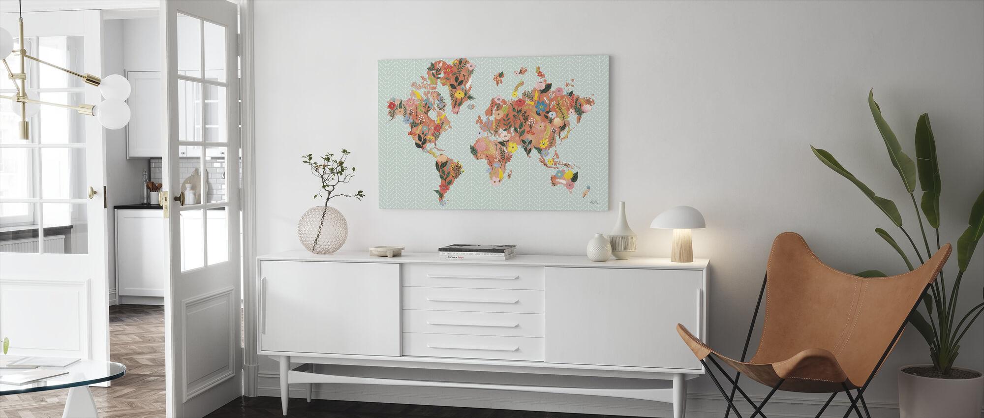 Vilde Have Verden - Billede på lærred - Stue