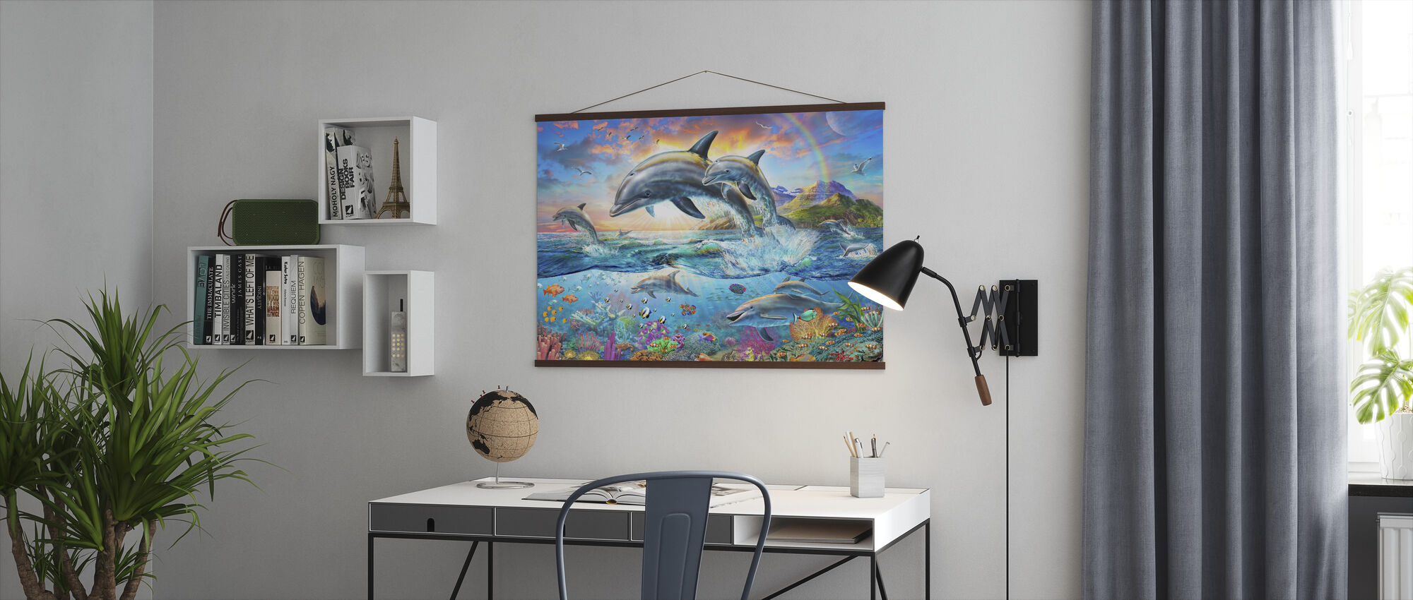 Dolphin Family - Poster - Office