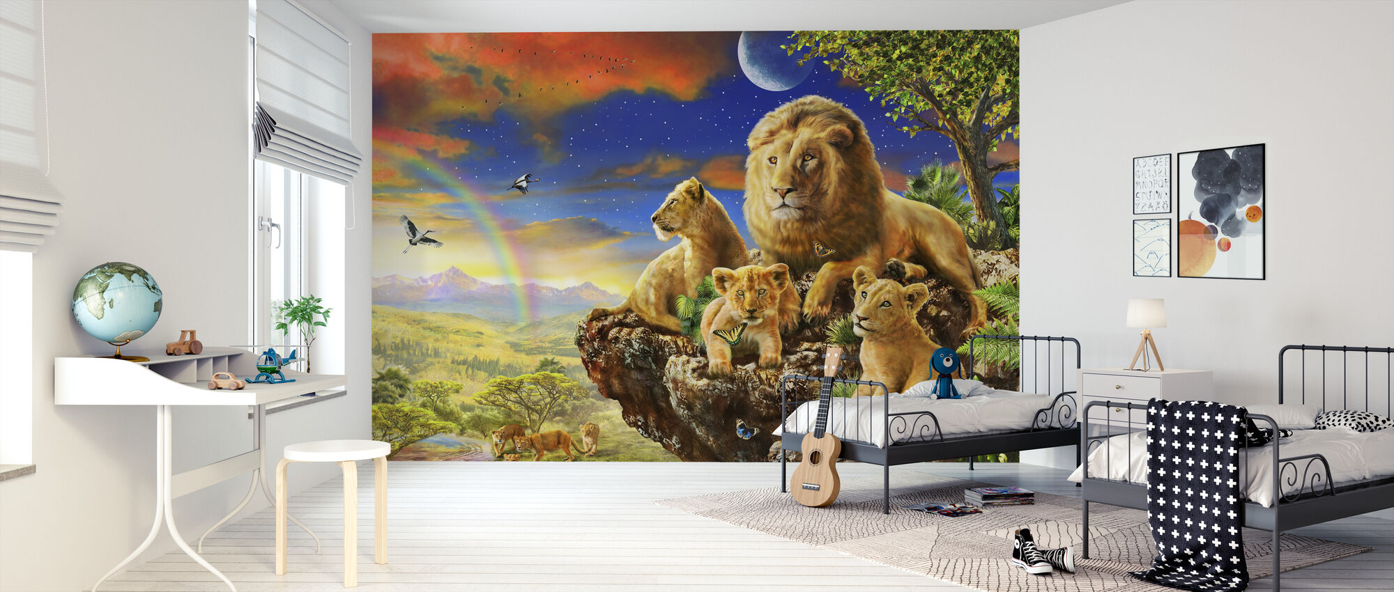 Leeuwenrots - Behang - Kinderkamer