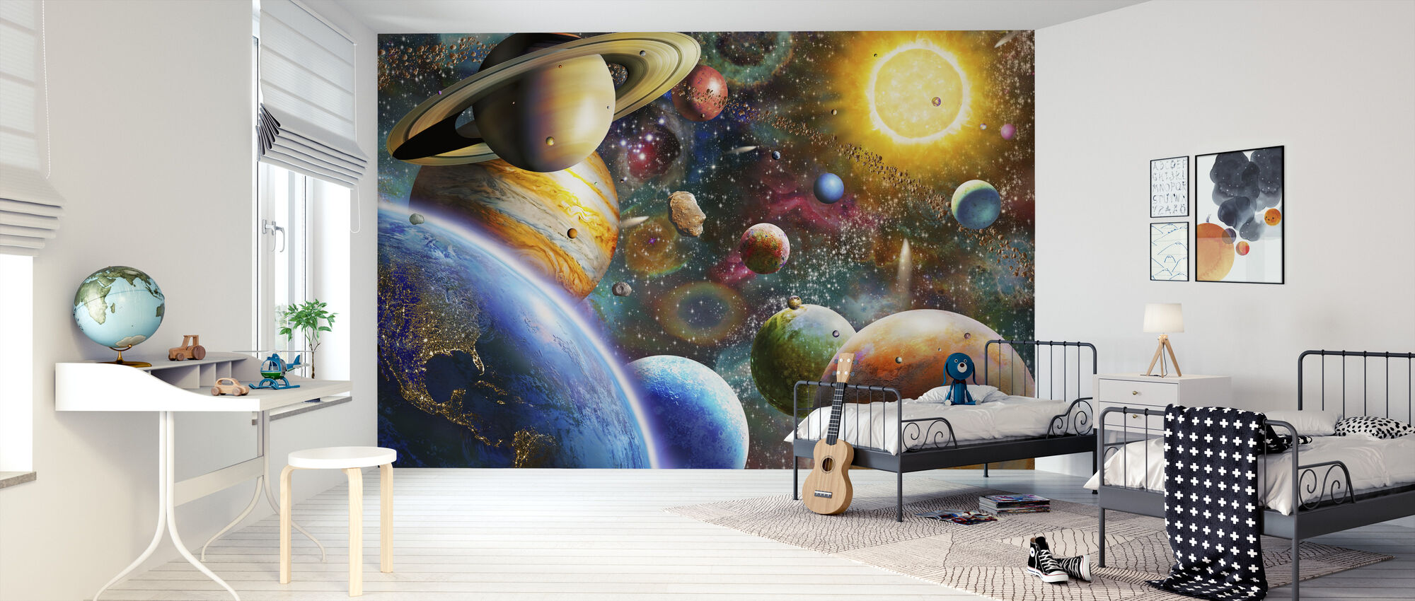 Planets in Space - Wallpaper - Kids Room