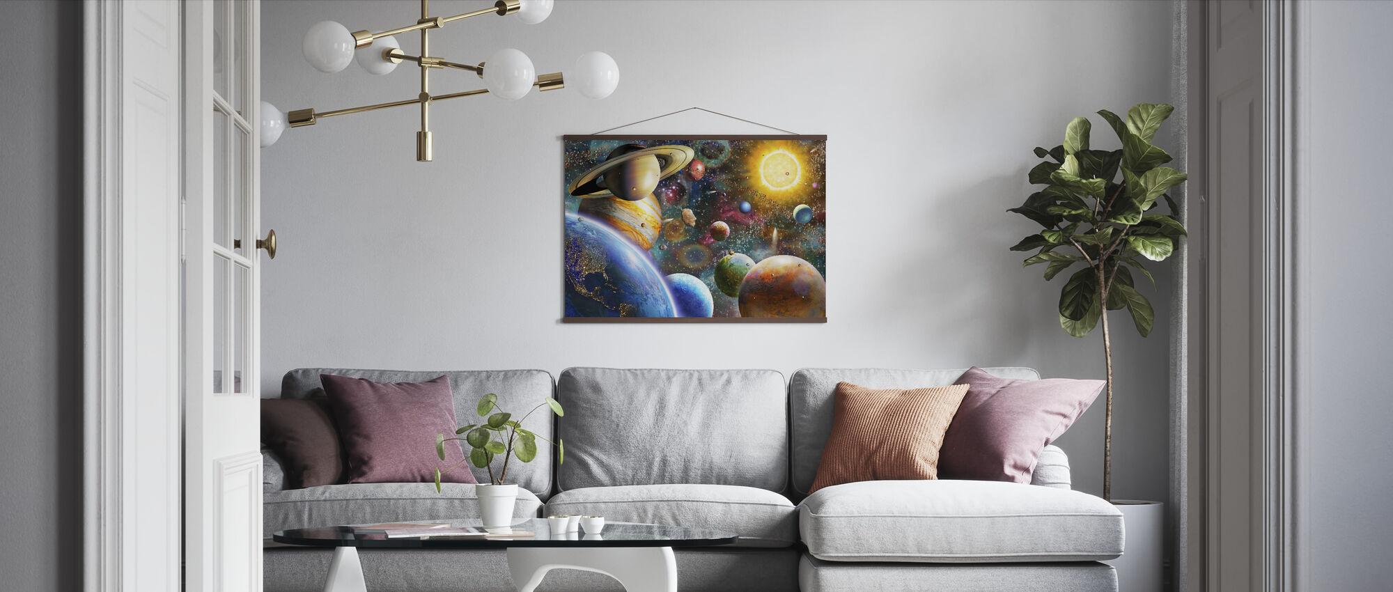 Planeter i verdensrommet - Plakat - Stue