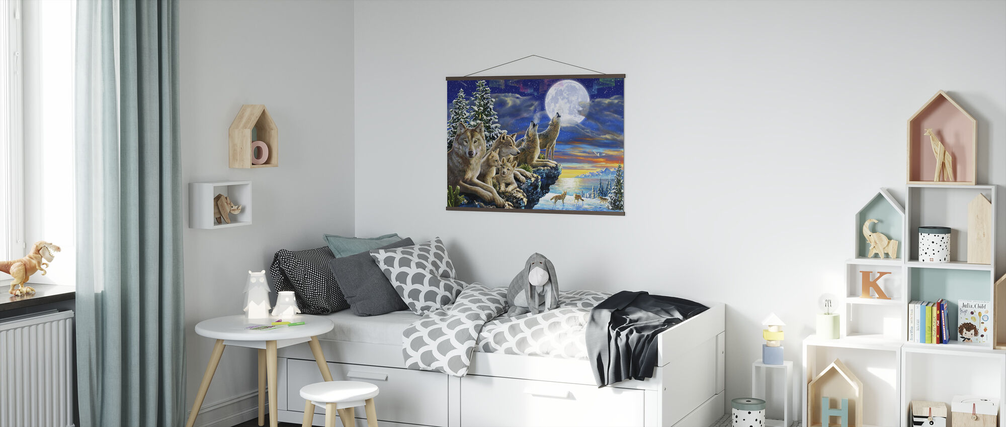 Wolfpoint Månen - Plakat - Barnerom