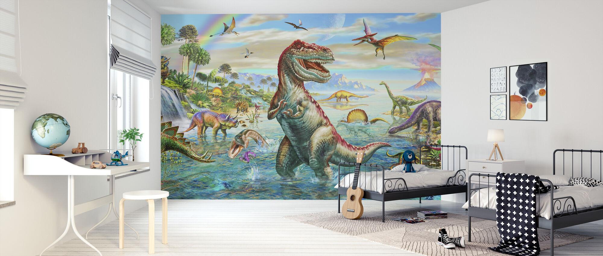 Prehistoric Panorama - Wallpaper - Kids Room