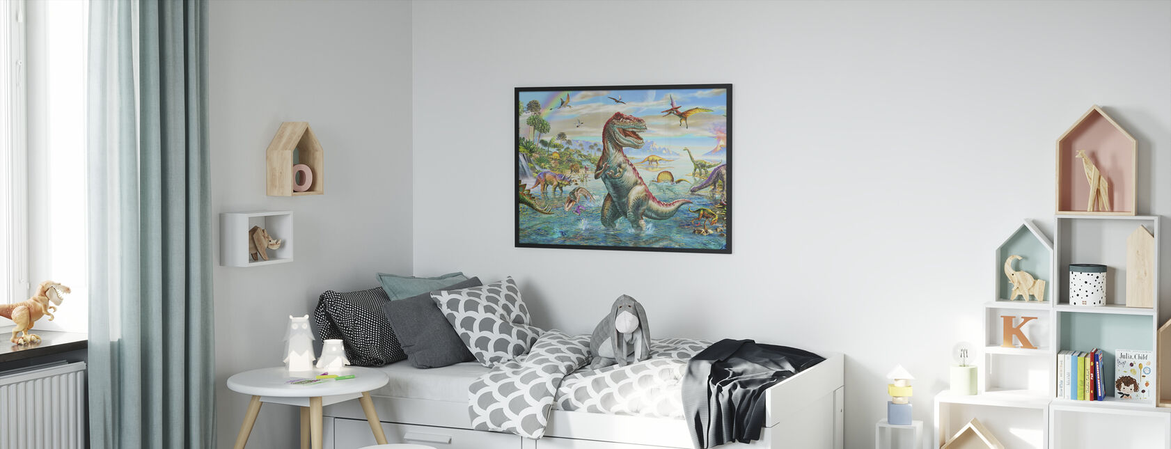 Prehistoric Panorama - Framed print - Kids Room