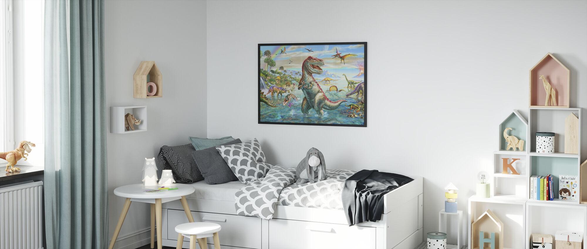 Prehistoric Panorama - Framed print - Kids Room