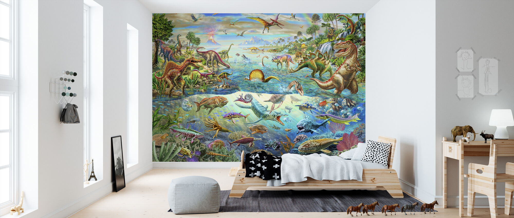 Prehistoric Paradise - Wallpaper - Kids Room