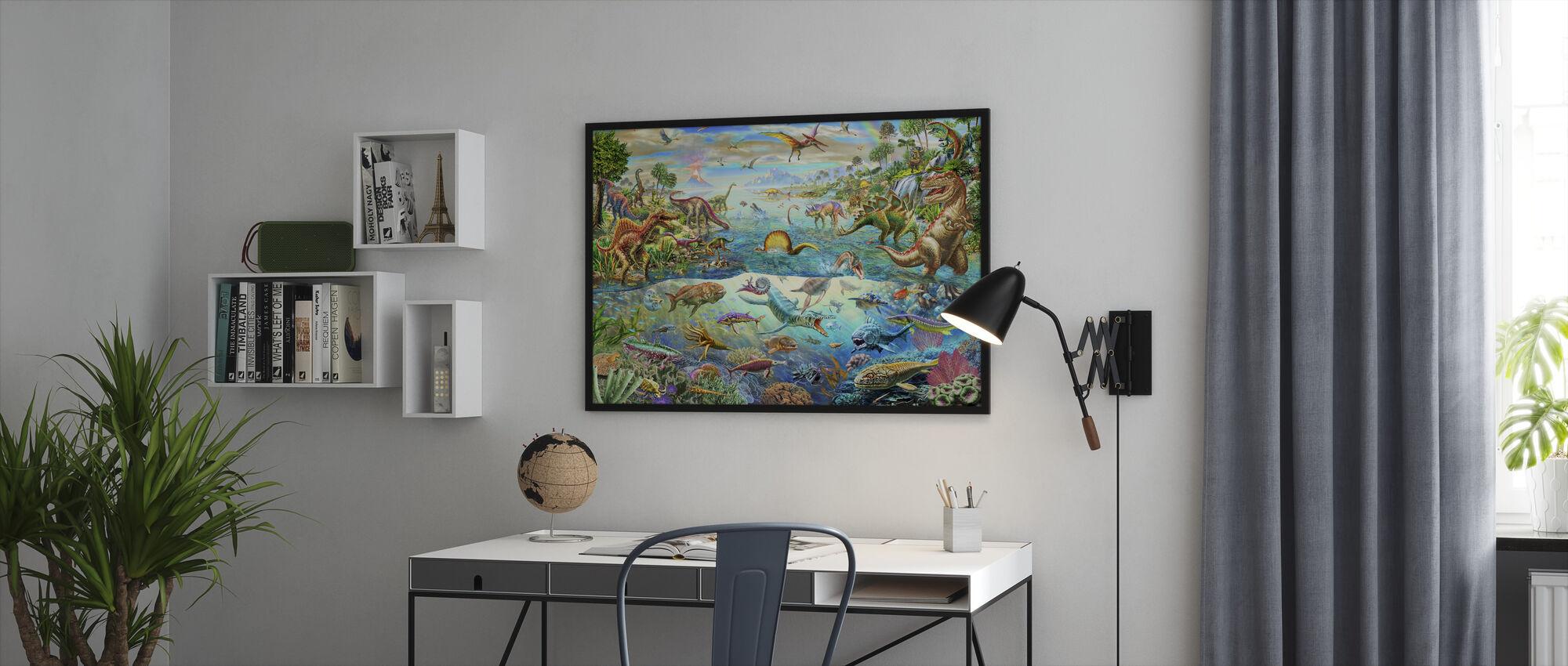 Prehistoric Paradise - Framed print - Office