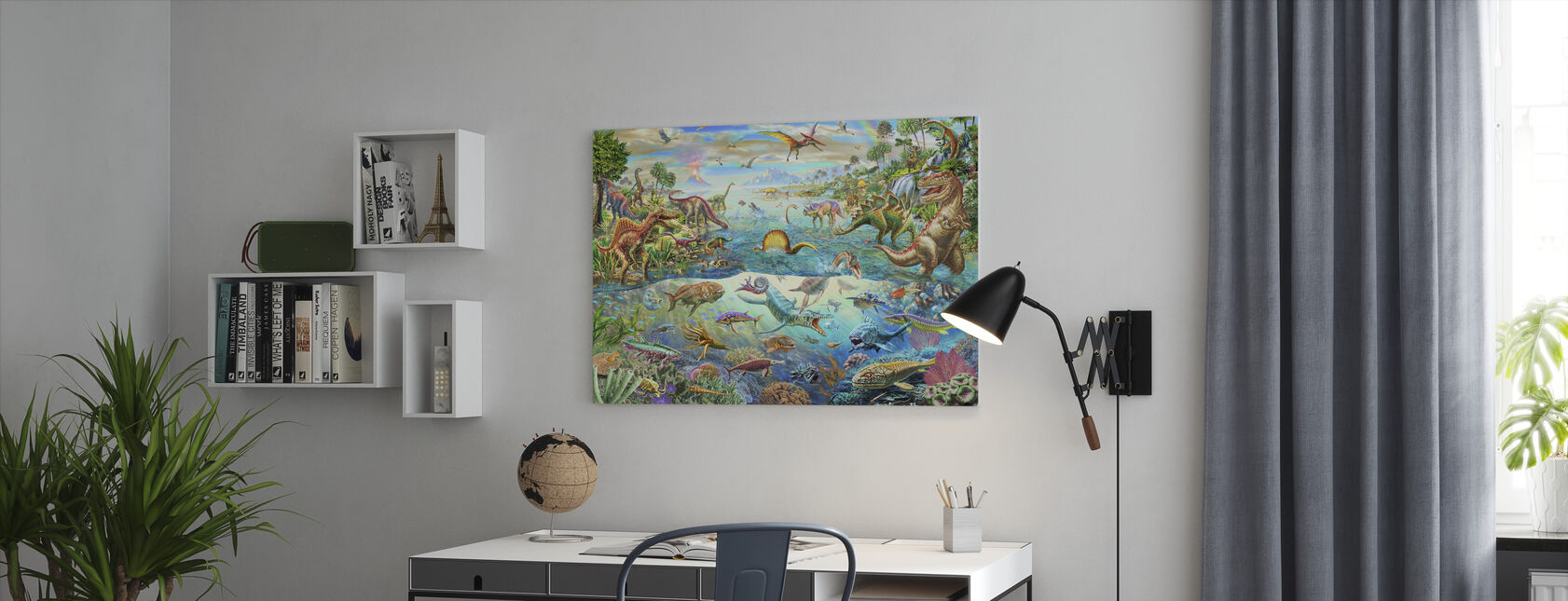 Prehistoric Paradise - Canvas print - Office