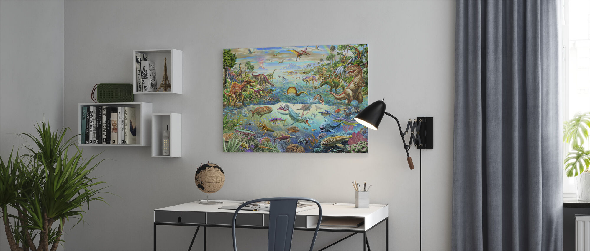 Prehistoric Paradise - Canvas print - Office