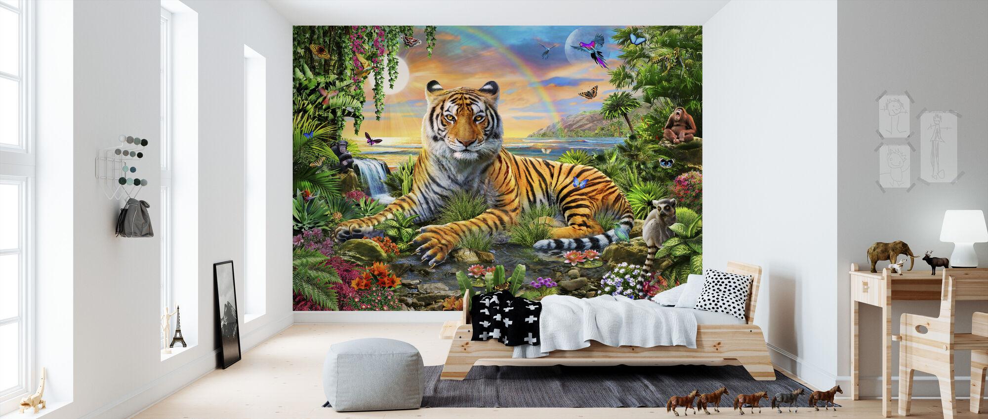 Koning van de jungle - Behang - Kinderkamer