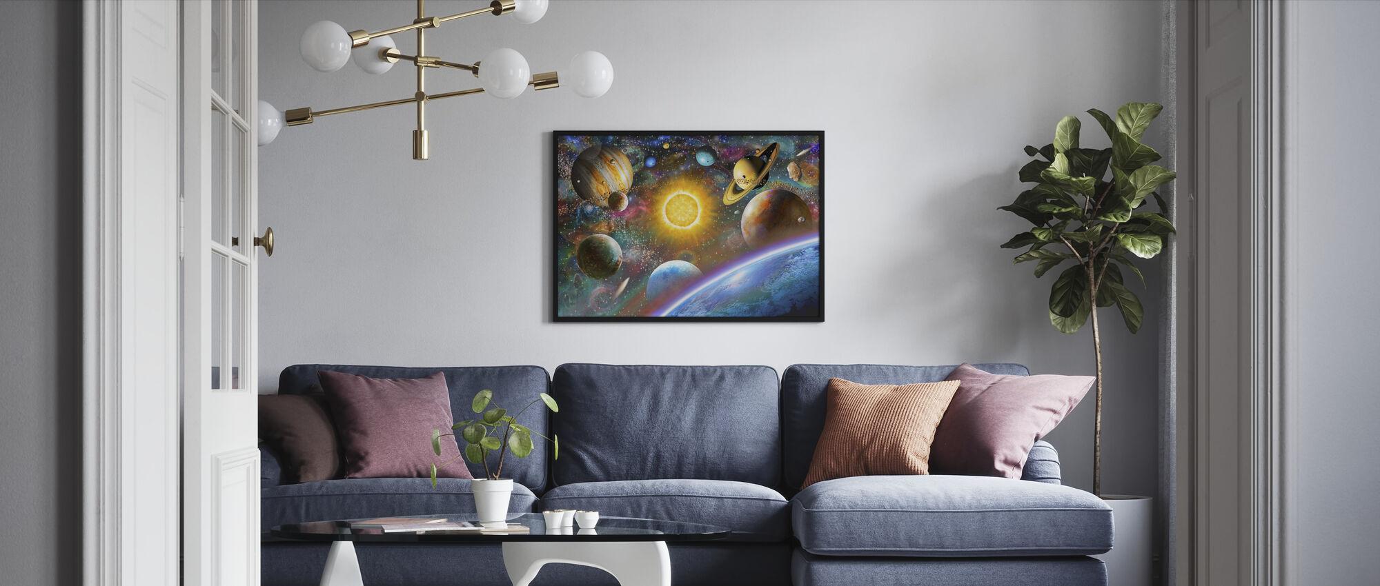 Ulompi avaruus - Kehystetty kuva - Olohuone
