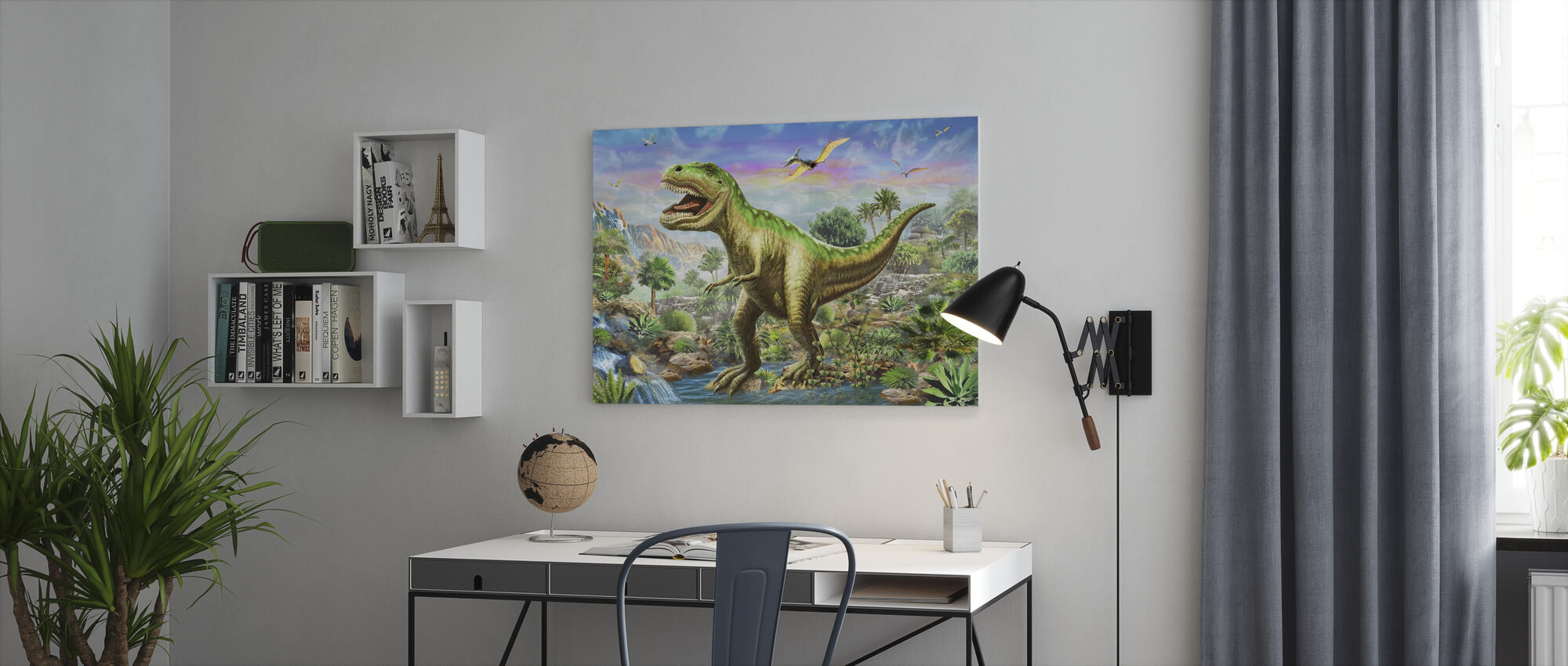 Tyranosaur 3 - Canvas print - Office