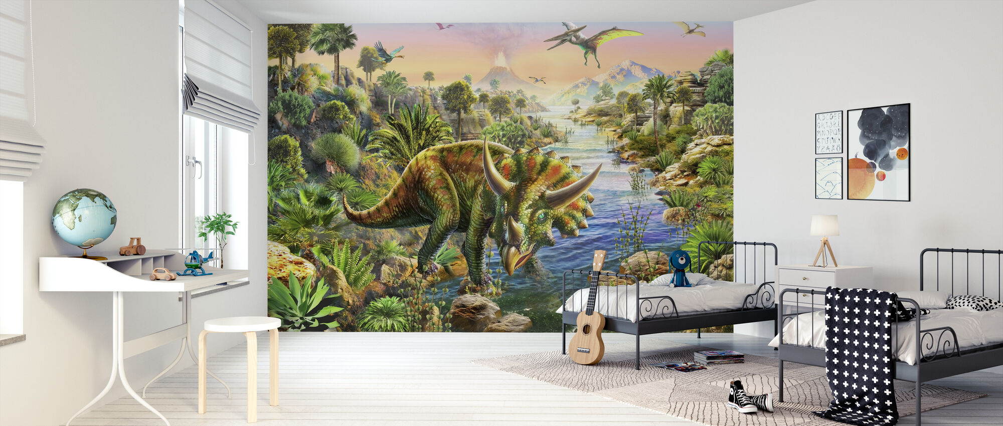 Triceratops - Wallpaper - Kids Room