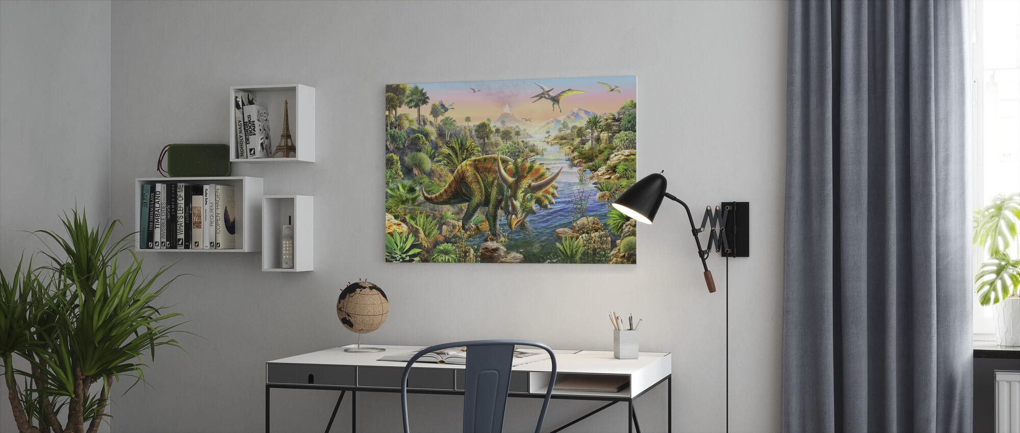 Triceratops - Canvas print - Kantoor