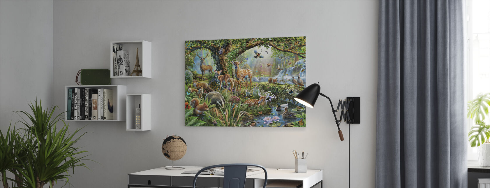 Woodland Creatures - Canvas print - Office