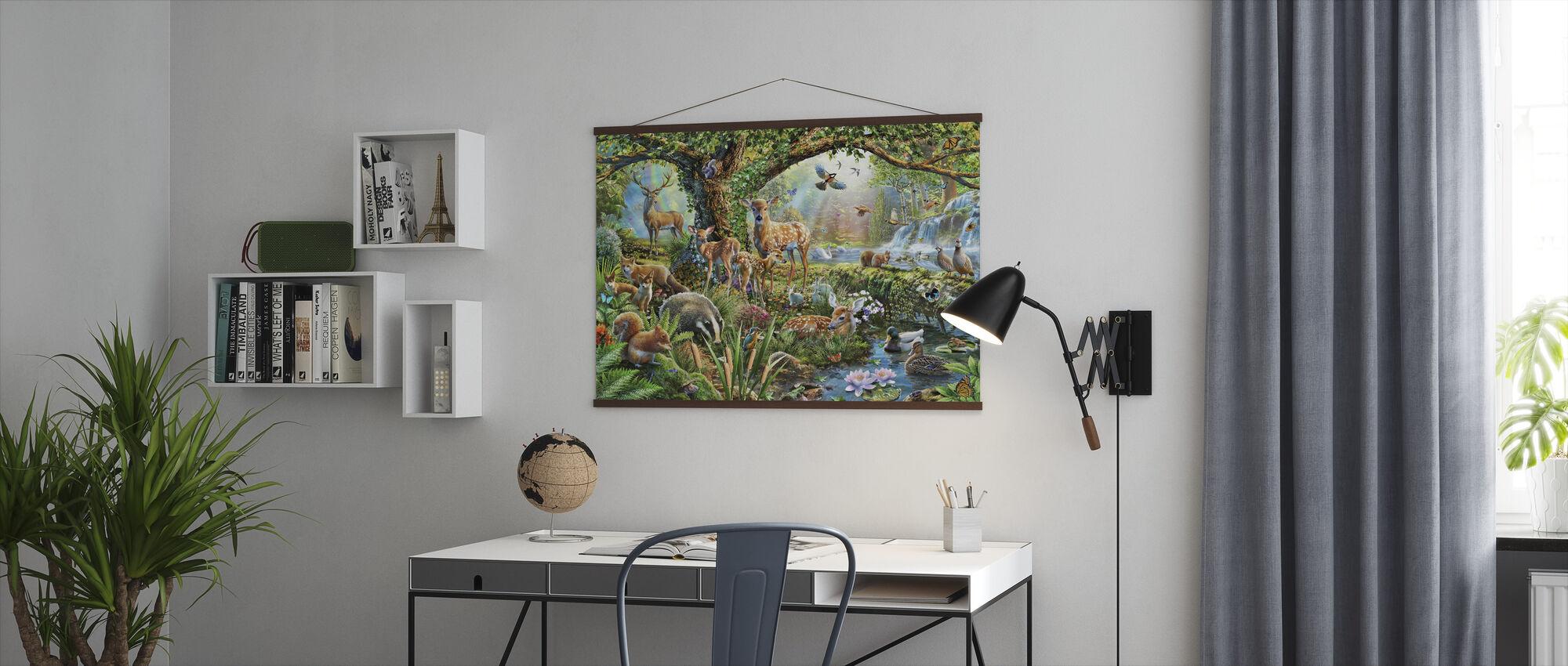 Skogland skapninger - Plakat - Kontor
