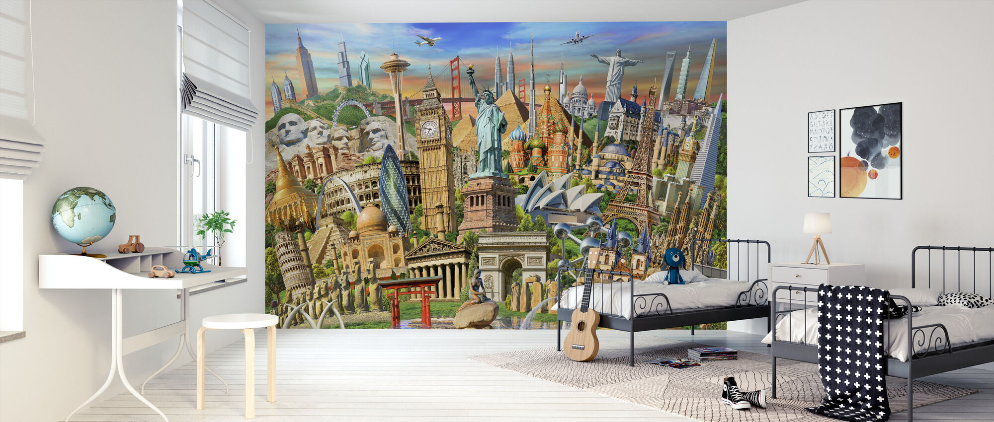 World Landmarks Collection - Wallpaper - Kids Room
