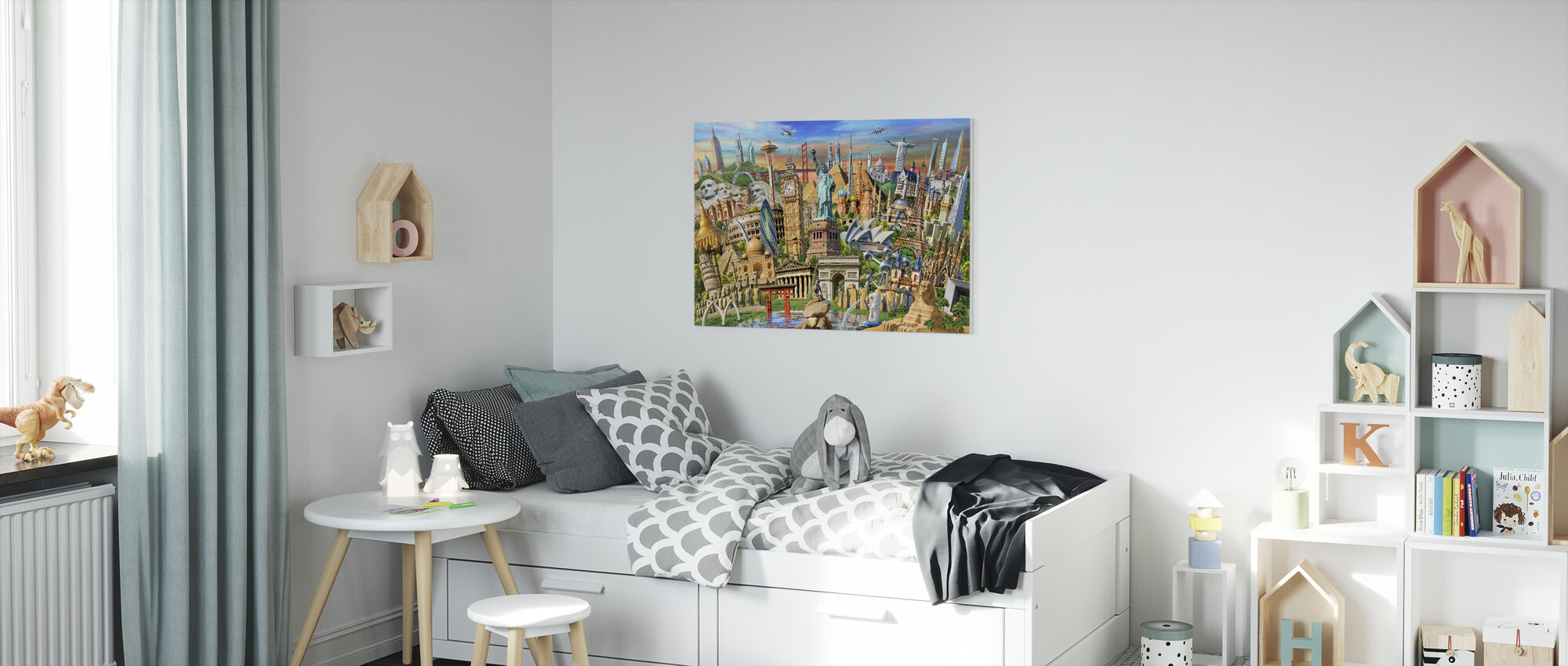 World Landmarks Collection - Canvas print - Kids Room