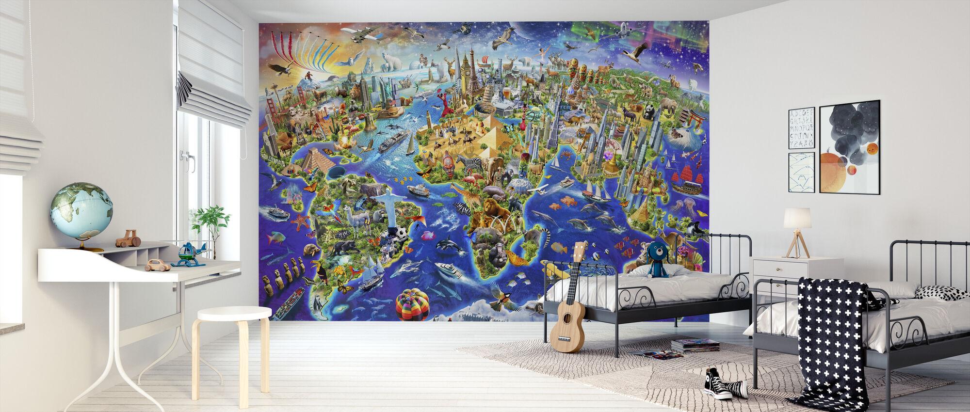 Crazy World - Wallpaper - Kids Room