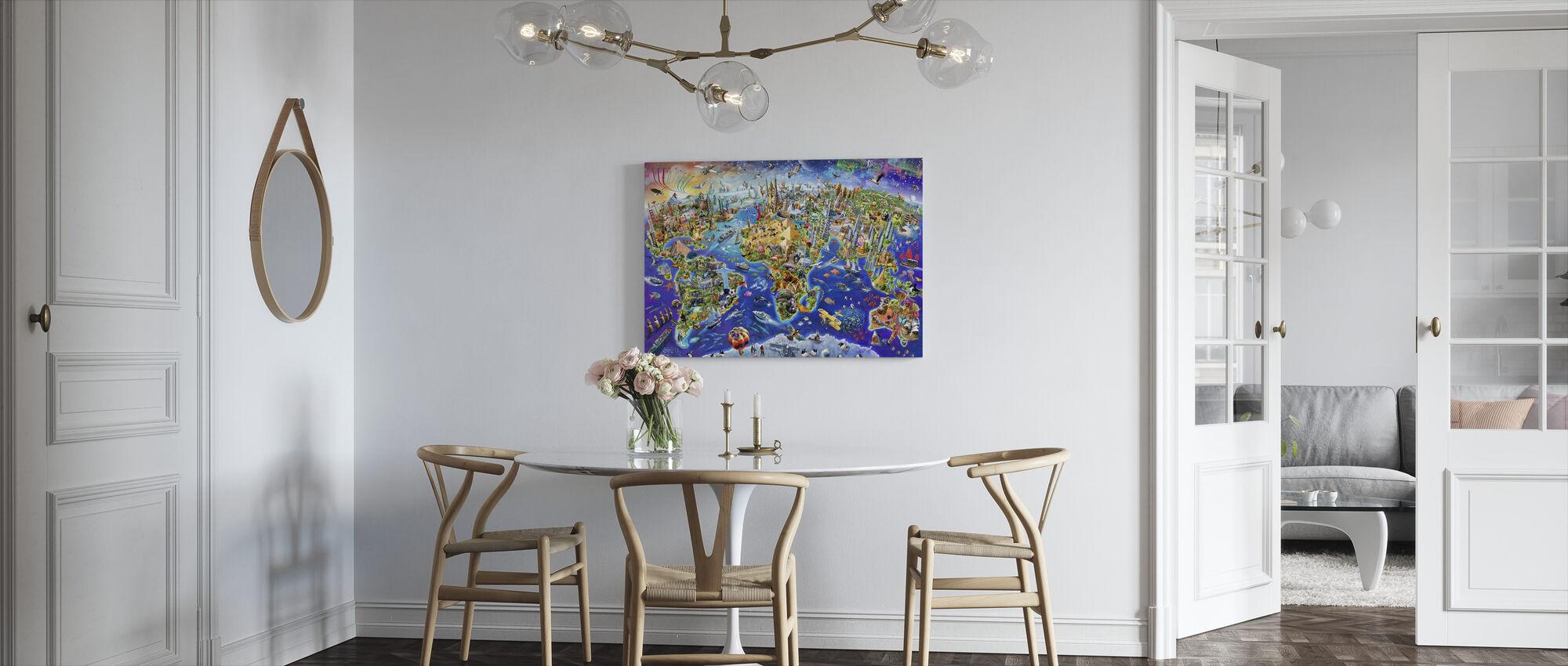 Crazy World - Canvas print - Kitchen