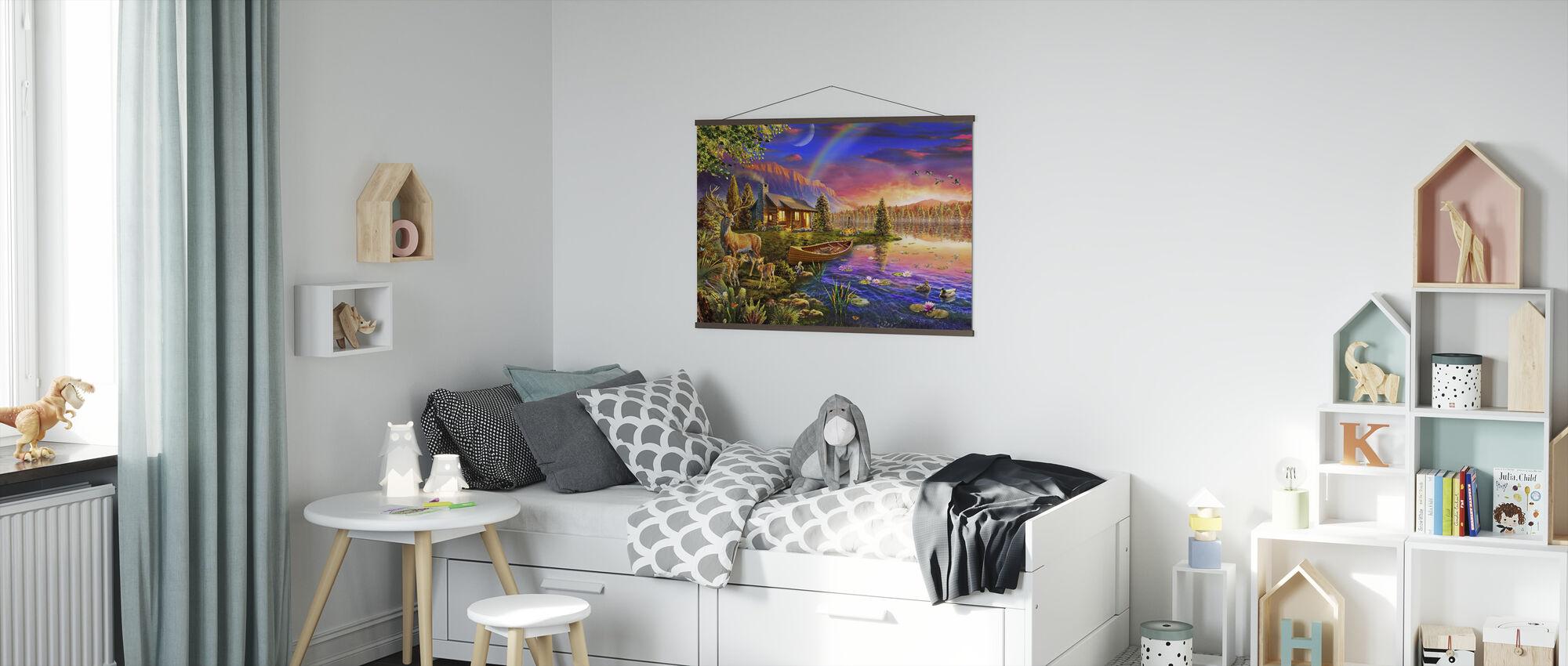Hytte ved Lakeside - Plakat - Barnerom