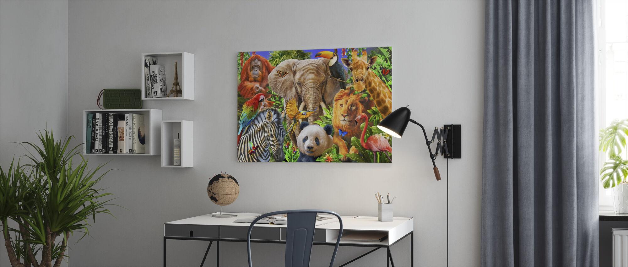 Dyr for barn - Lerretsbilde - Kontor