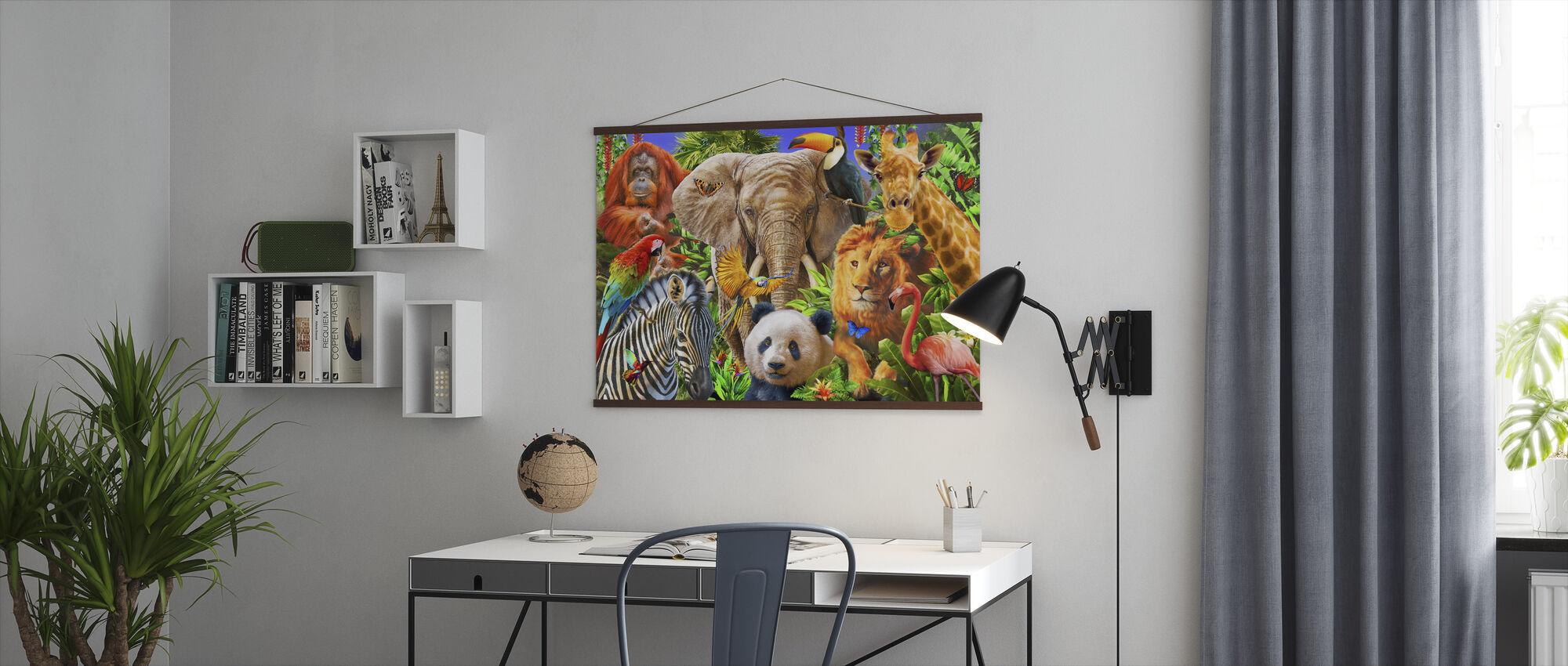 Dyr for barn - Plakat - Kontor