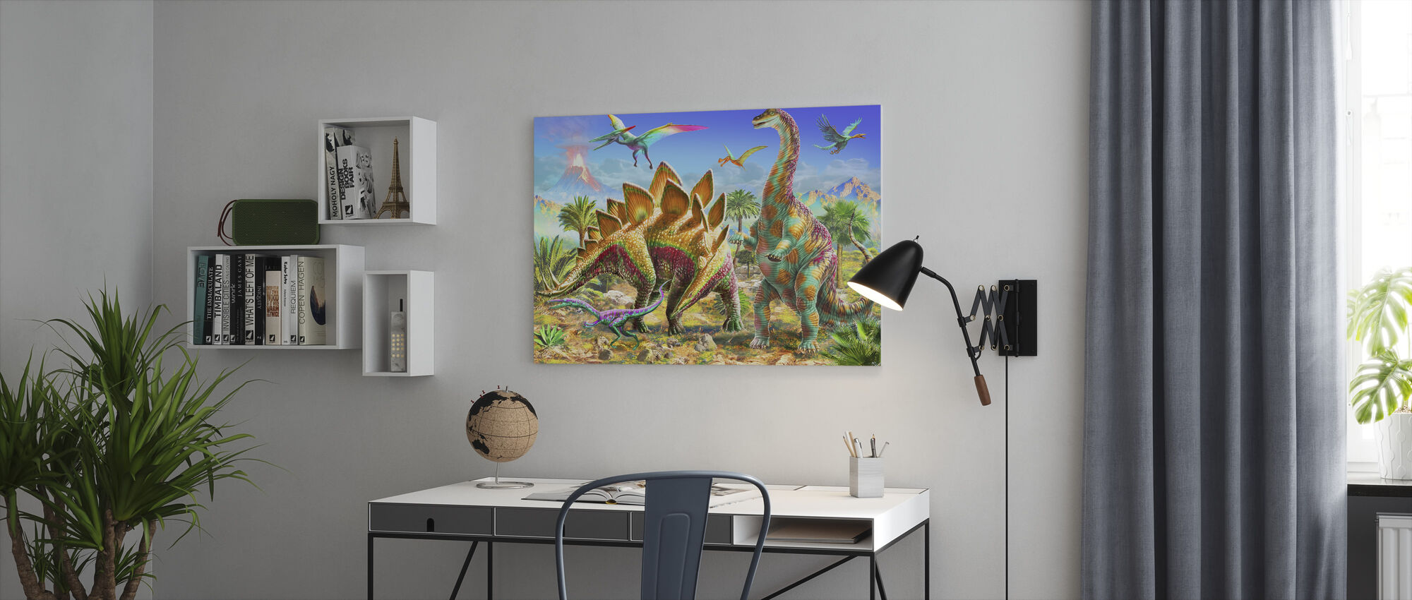 Dinos for Kids - Canvas print - Office