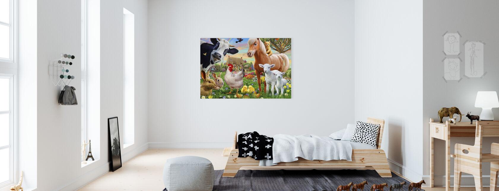 Farm Animals for kids - Canvas print - Kids Room