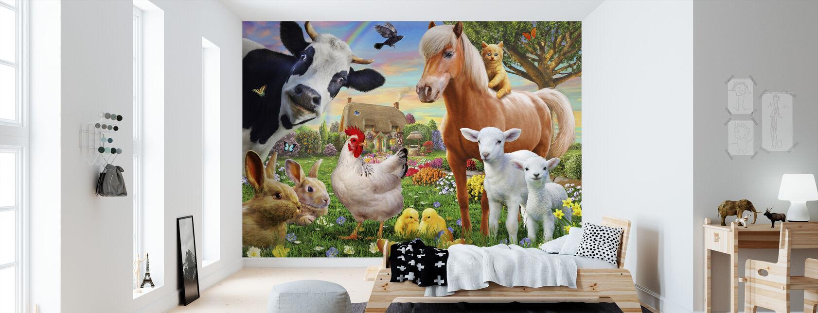 Farm Animals for kids - Wallpaper - Kids Room