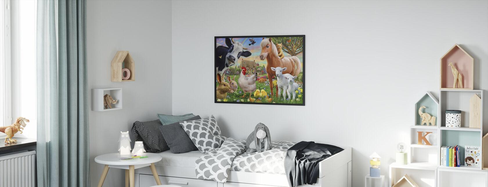 Farm Animals for kids - Framed print - Kids Room