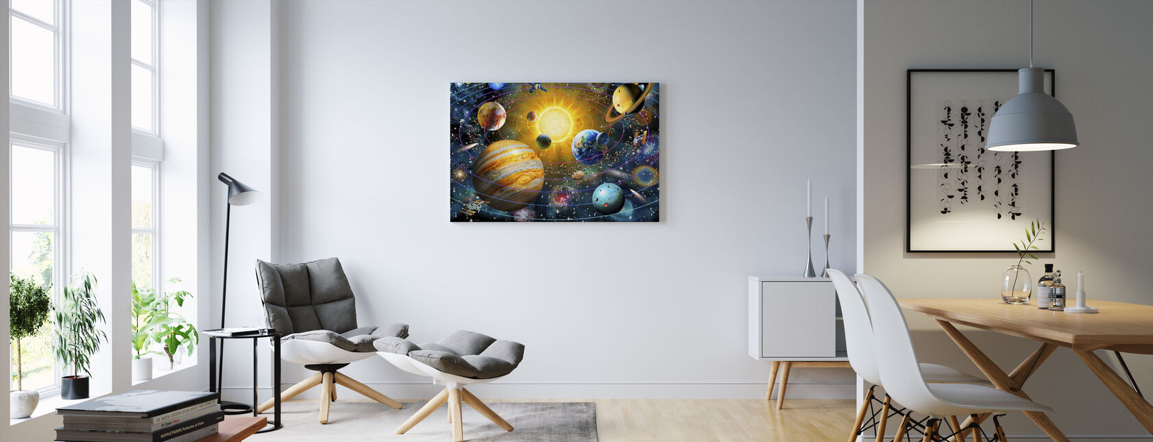 Ringed Solar System - Canvas print - Living Room