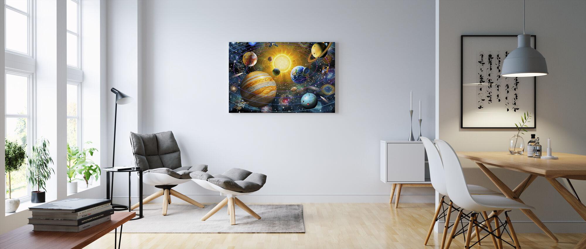 Ringed Solar System - Canvas print - Living Room