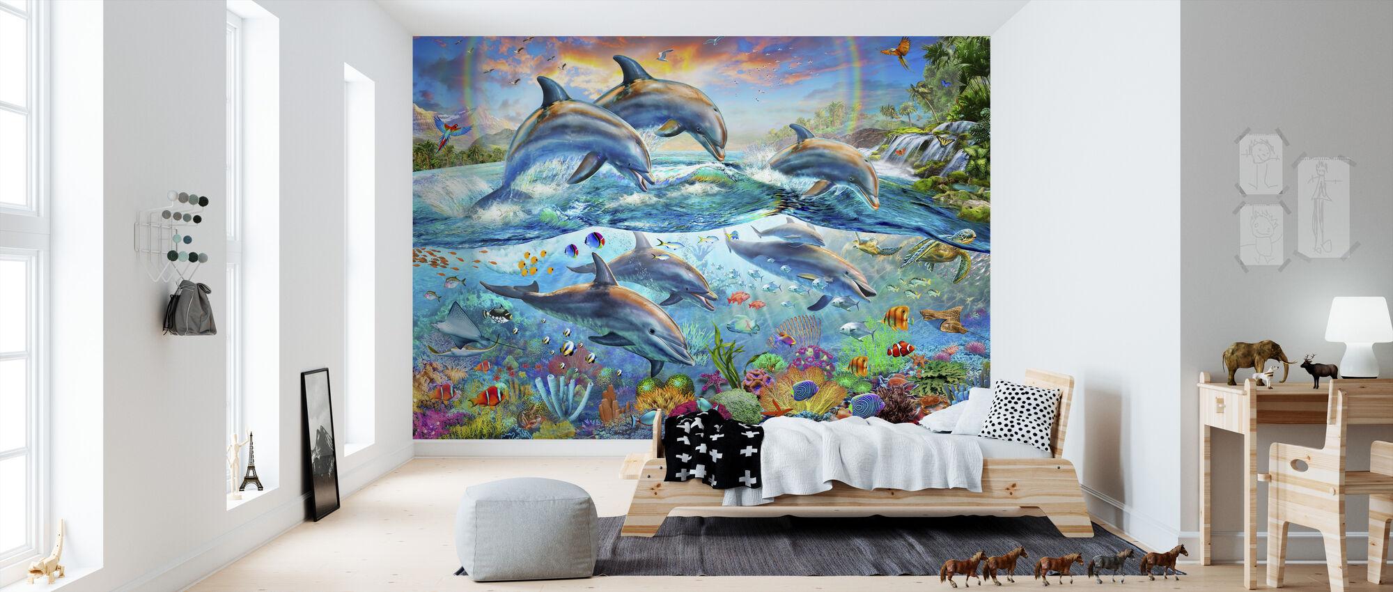 Trooppinen merimaailma - Tapetti - Lastenhuone