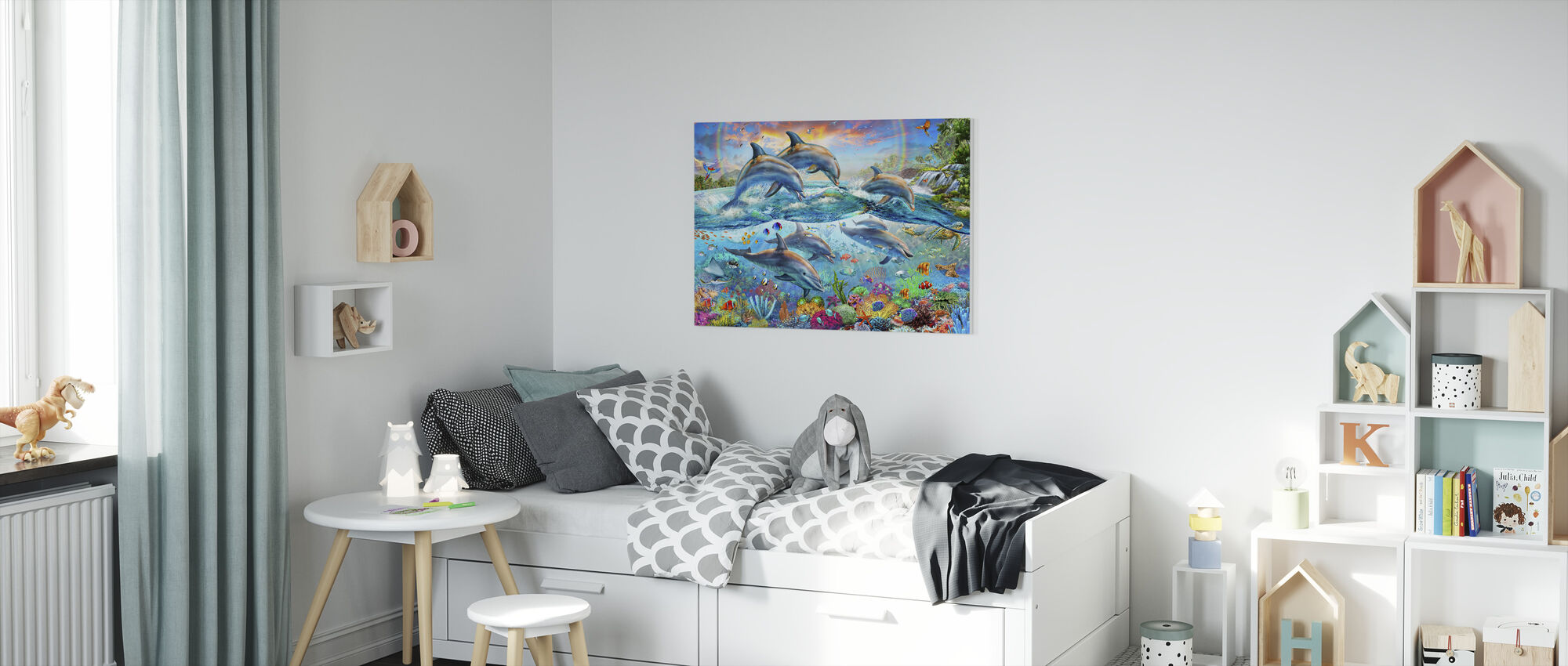 Tropical Seaworld - Canvas print - Kids Room
