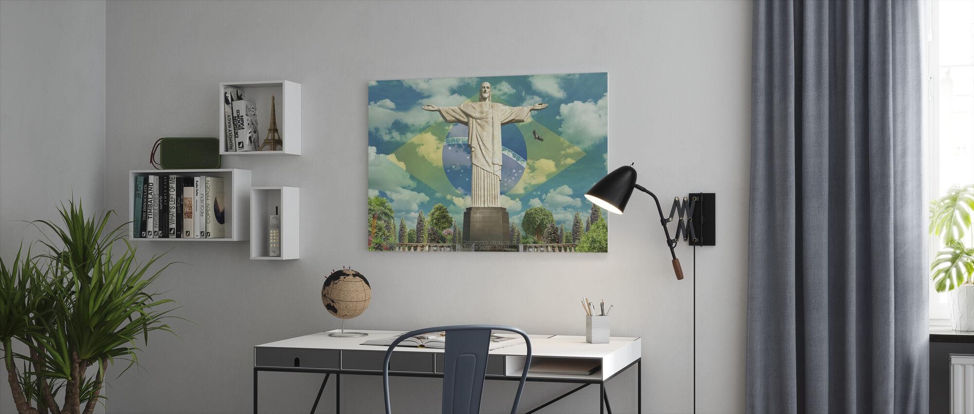 Jesus in Rio - Canvas print - Office