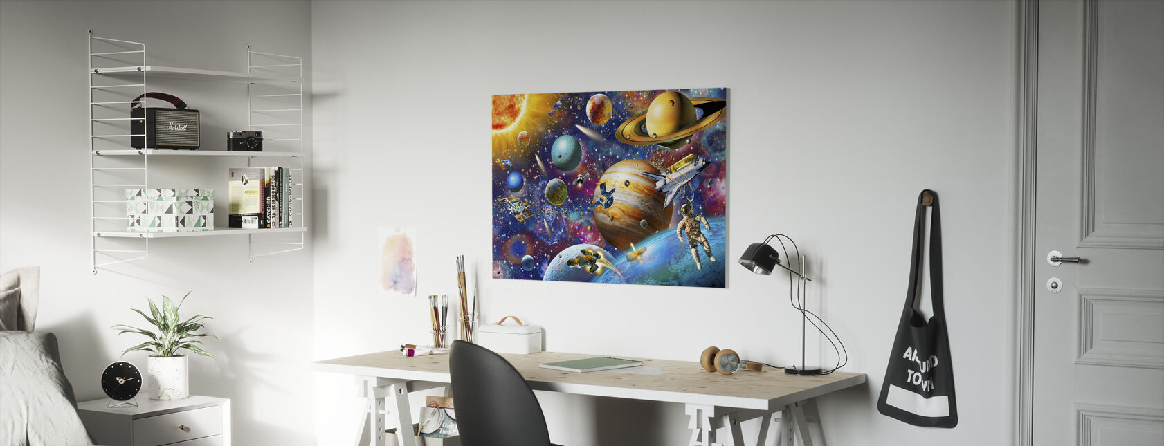 Solar System Odyssey - Canvas print - Kids Room